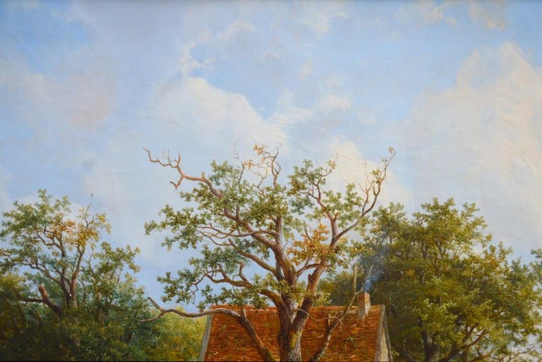 Near Stratford upon Avon - 19th Century Landscape Oil Painting 6