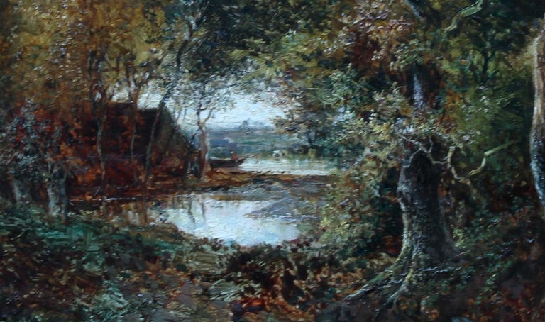 Solitude Westphalia - British Victorian art romantic landscape oil painting  For Sale 1