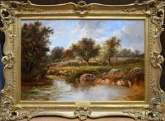 The Way Home - 19th Century English Landscape Oil Painting