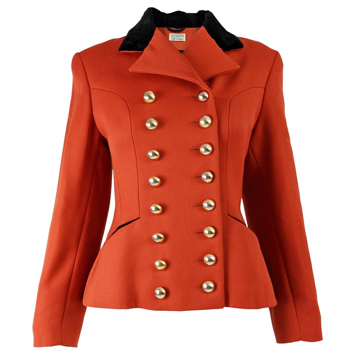 Joseph Vintage Womens Equestrian Style Wool Blazer Jacket