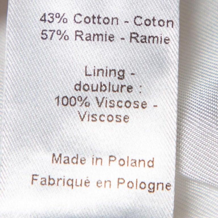 Women's Joseph White Cotton & Ramie Double Breasted Yvette Blazer L For Sale