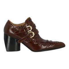 Joseph Woman Ankle boots Brown Leather IT 38.5
