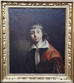 Portrait of a Young Boy - British art 1780 Old Master male portrait oil painting