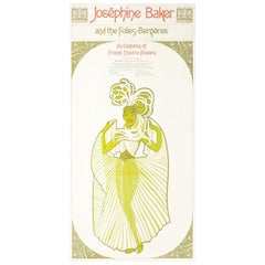 """Josephine Baker and the Folies Bergères"" 1970s U.S. Exhibition Poster"