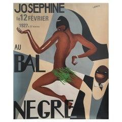 Josephine Baker 'Au Bal Negre' Original Lithograph Vintage French Poster, 1970