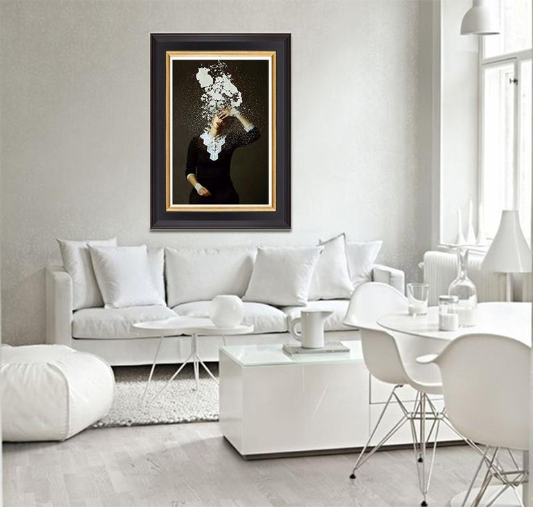 Whitewash by Jo Cardin - Black, Contemporary, abstract, photography portrait  For Sale 2