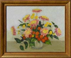 Dahlias & Chrysanthemums Still Life