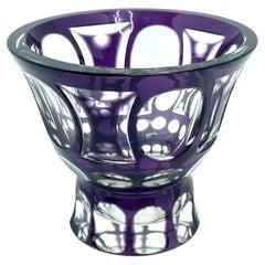 Josephinenhutte Moser Style Purple Amethyst Colored Glass, 1910s