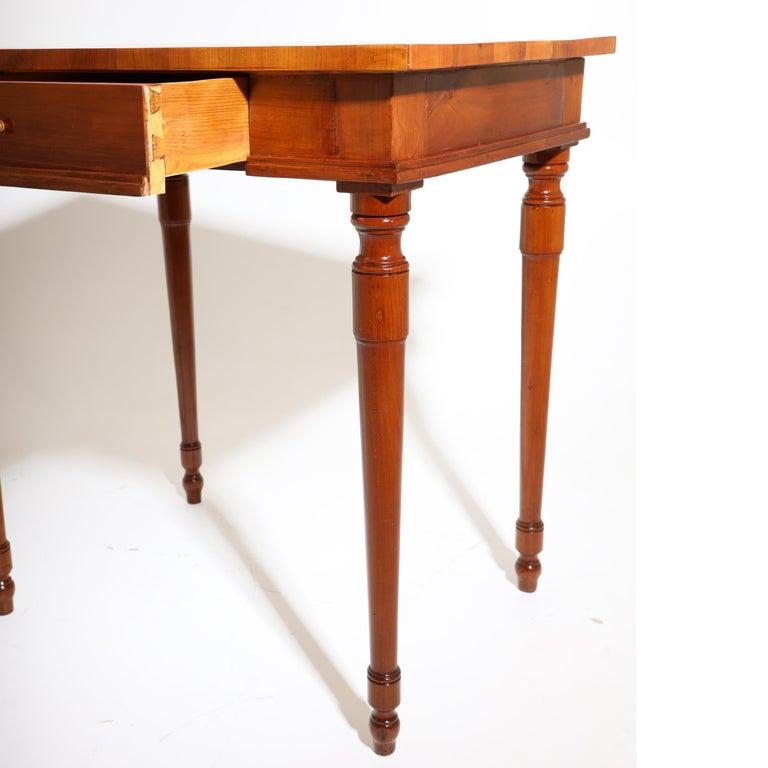 Austrian Josephinian Side Cherrywood Table, Austria, circa 1800 For Sale