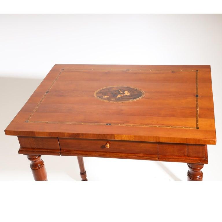 Josephinian Side Cherrywood Table, Austria, circa 1800 For Sale 1