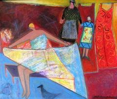 'Impressions Bretonnes #2,' by Josette Simon-Gestin, Acrylic on Canvas Painting