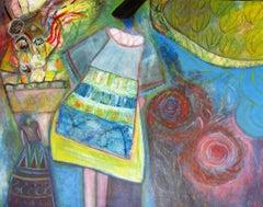 'Impressions Bretonnes #5,' Josette Simon-Gestin, Mixed Media on canvas painting