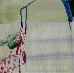 """Josette Urso """"Silo"""" -- Abstract Watercolor Painting on Paper"""