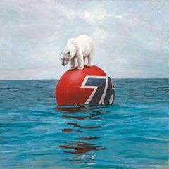 Josh Keyes Drift Print 2020 Street & Urban Art Global Warming Edition Polar Bear