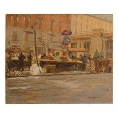 "Joshua Felise Ziro Brevio 'American, 1900-xxx' ""Market in Milan"""