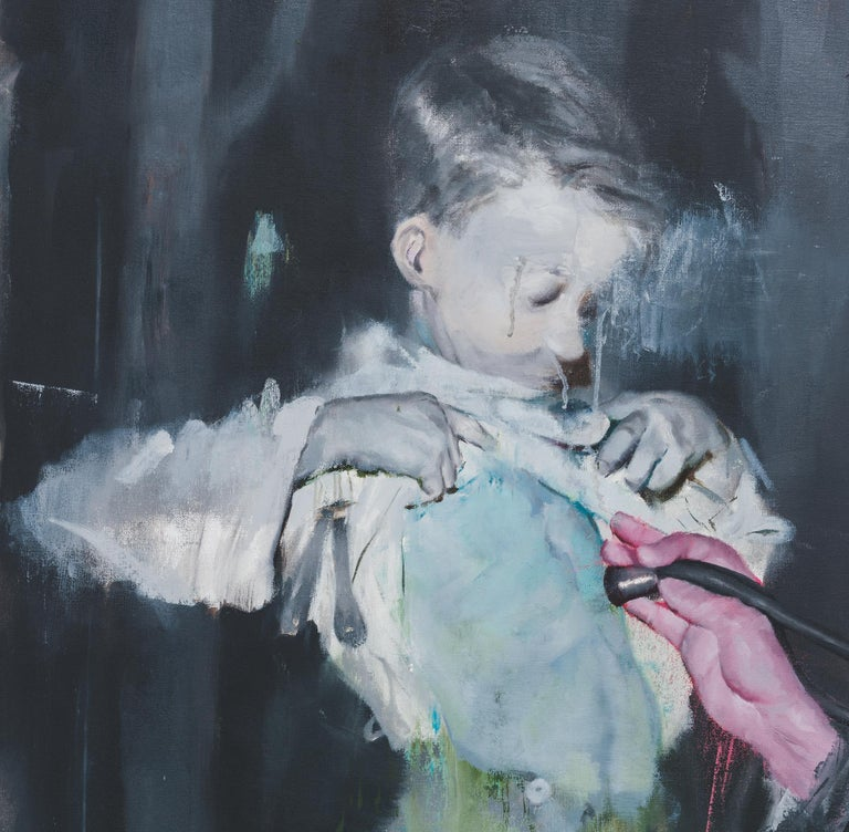 JOSHUA FLINT stages the scenes of his paintings using elements drawn from archival images and found photographs. Flint interjects a slippage between the narrative in the composition and its historical context, shifting between impressionistic