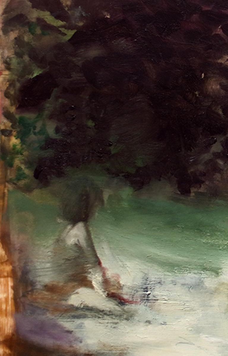 Flashback/Flashforward, vibrant surrealist figurative oil painting, 2020 - Painting by Joshua Flint