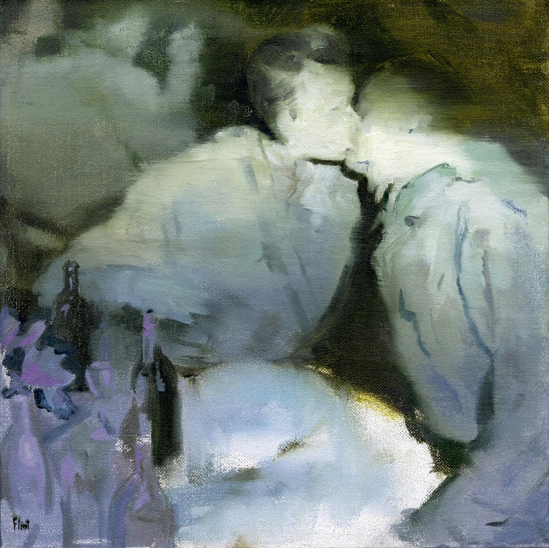 Victory, surrealist figurative oil painting, 2017