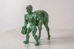 Bronze Figurative Sculpture: 'Skeletaur'