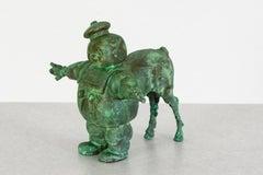 Bronze, hand cast, patiead: 'Chubby Centaur'