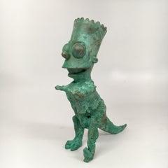 Bronze hand cast, patinead sculpture: 'Bartosaurus'