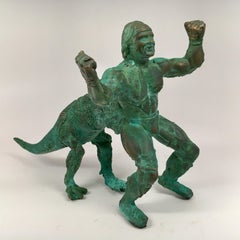Bronze hand cast, patinead sculpture: 'Hulktaur'