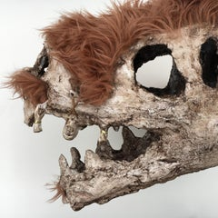 Mixed Media Sculpture: 'Woolly TRex Skull'