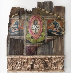 Modern Artifact Barn door with figures and animals: 'Birth of Rhomulus & Rhemus'