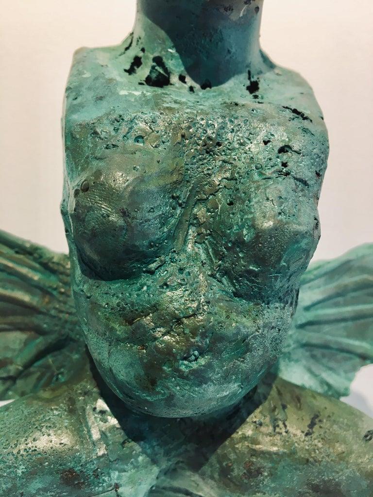 Modern Bronze Relic Sculpture of figure with 3 legs: 'Rhoman Fertility Goddess' For Sale 3