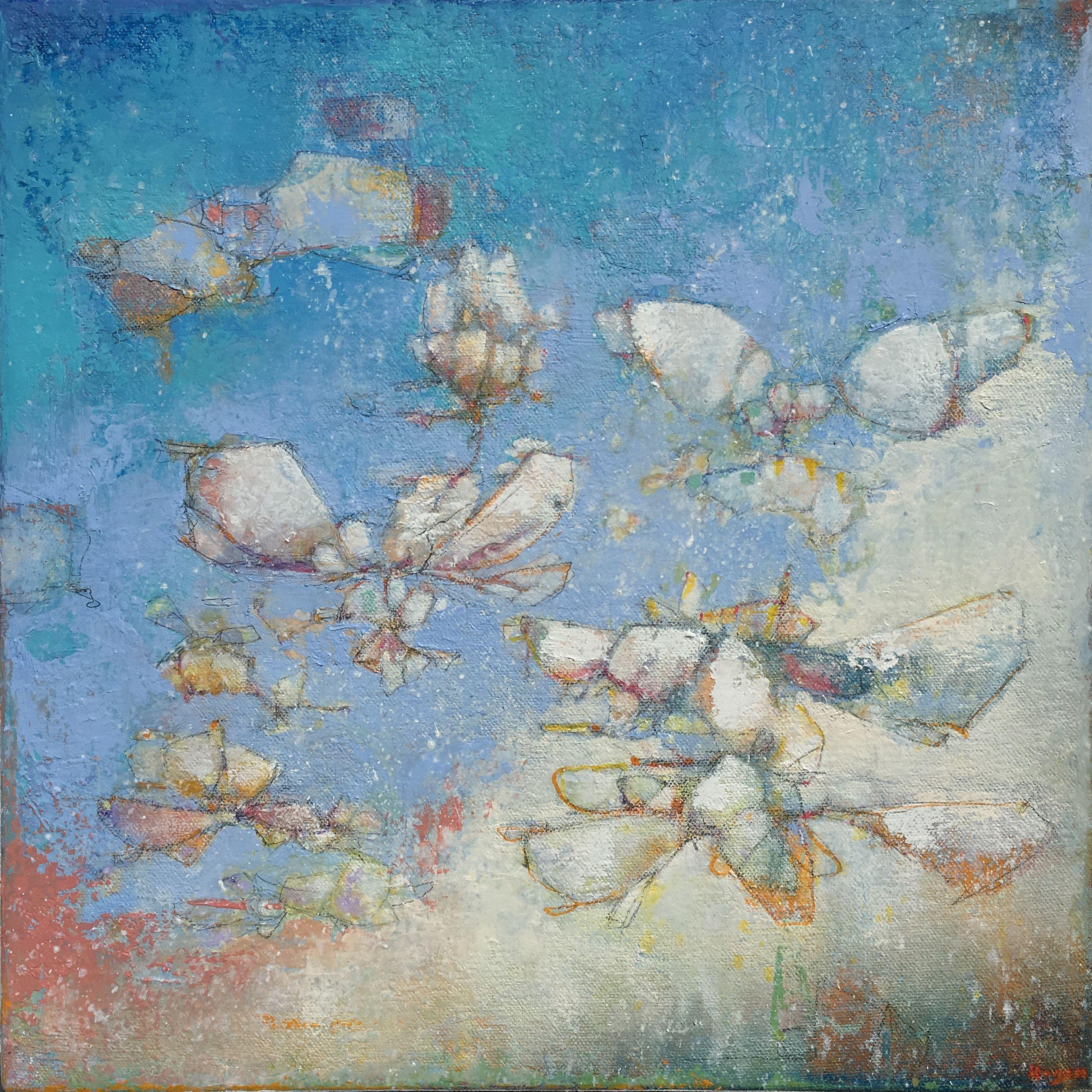 Flutter and Hum, Painting, Oil on Canvas