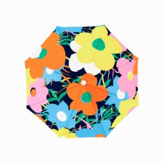 Yellow Floral Beach Umbrella