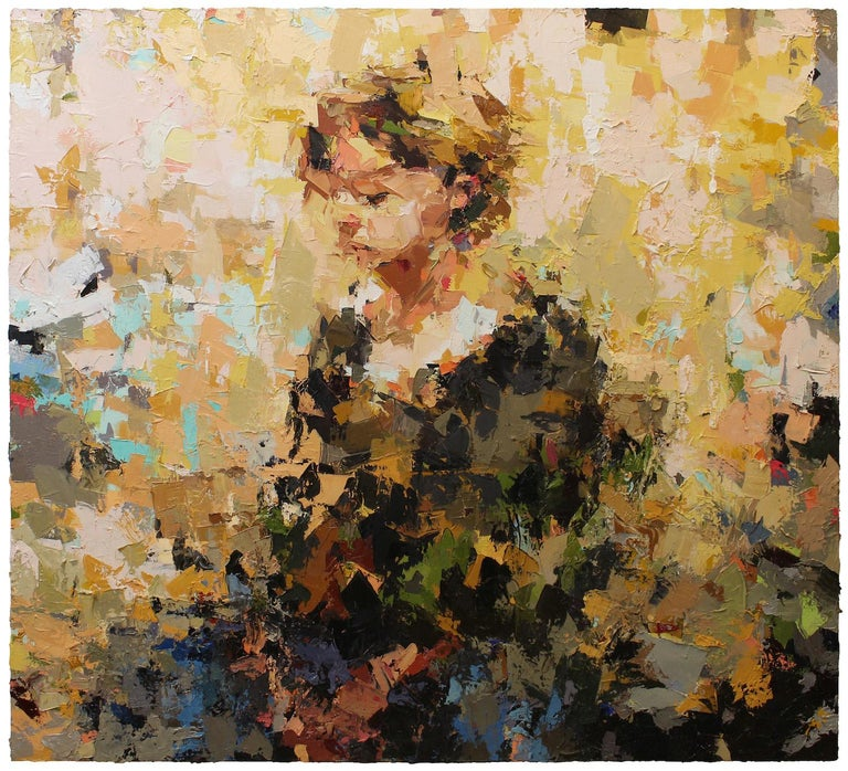 Oil painting - oil on board, figurative painting, impressionism, abstract  Joshua Meyer is known for his thickly layered paintings of people, and for a searching, open-ended process. The Cambridge, MA artist is the recipient of a Pollock-Krasner
