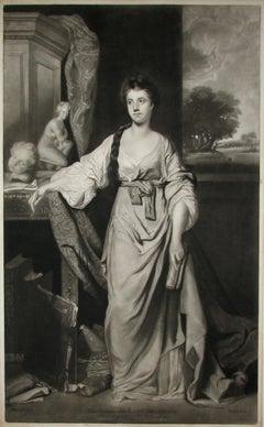 Lady Stanhope, English mezzotint portrait after Sir Joshua Reynolds, c1780