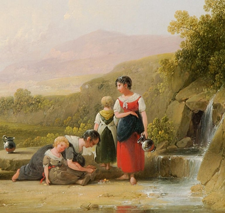 At the Spring - Painting by Joshua Shaw