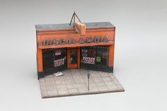 Discolandia - miniature urban building sculpture- street art graffiti
