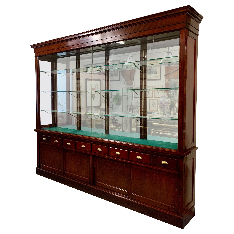 The Joslin Showcase Company of Boston Mahogany, Glass & Brass Display Cabinet