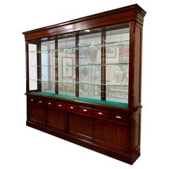 The Joslin Showcase Company of Boston-Large Mahogany Display Cabinet