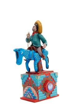 Charro / Mexican Mechanical Folk Art Carton Sculpture