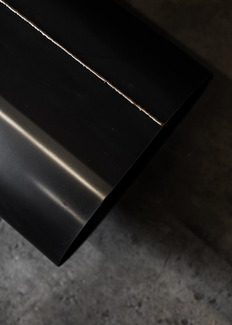 Jouir Bench in Black Steel and Bronze Welding Contemporary Design by Mtharu For Sale 6
