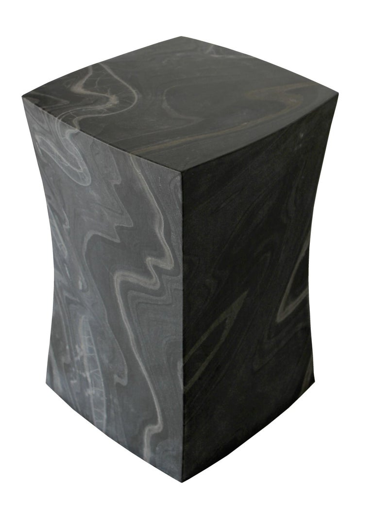 Hand-Carved Jour Block Table by Paul Mathieu for Stephanie Odegard For Sale
