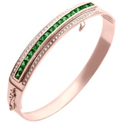 Journey Bangle-Your Grace-Rose Gold Tsavorite Insert