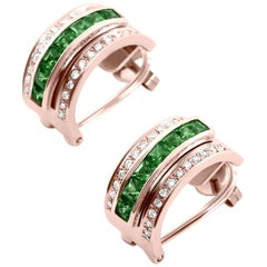 Journey Earrings, Your Grace, Rose Gold with Tsavorite Inserts