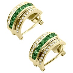 Journey Earrings, Your Grace, Yellow Gold with Tsavorite Inserts
