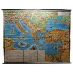 Journey of Apostle Paul Rollable Vintage Map Wall Chart