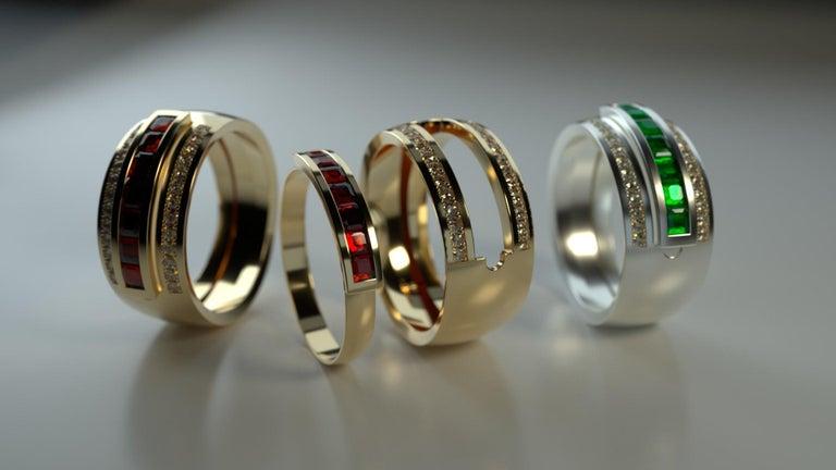 Journey Ring, Your Grace, 18 karat White Gold, Sapphire Insert For Sale 1