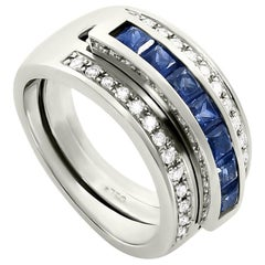 Journey Ring, Your Grace, White Gold, Sapphire Insert