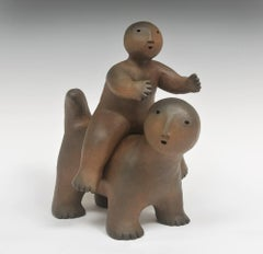 Sculpture, Joy Brown, Animal with Rider