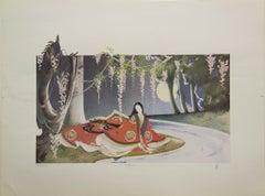 """""""Evening"""" By Joy Dunn, Lithograph"""