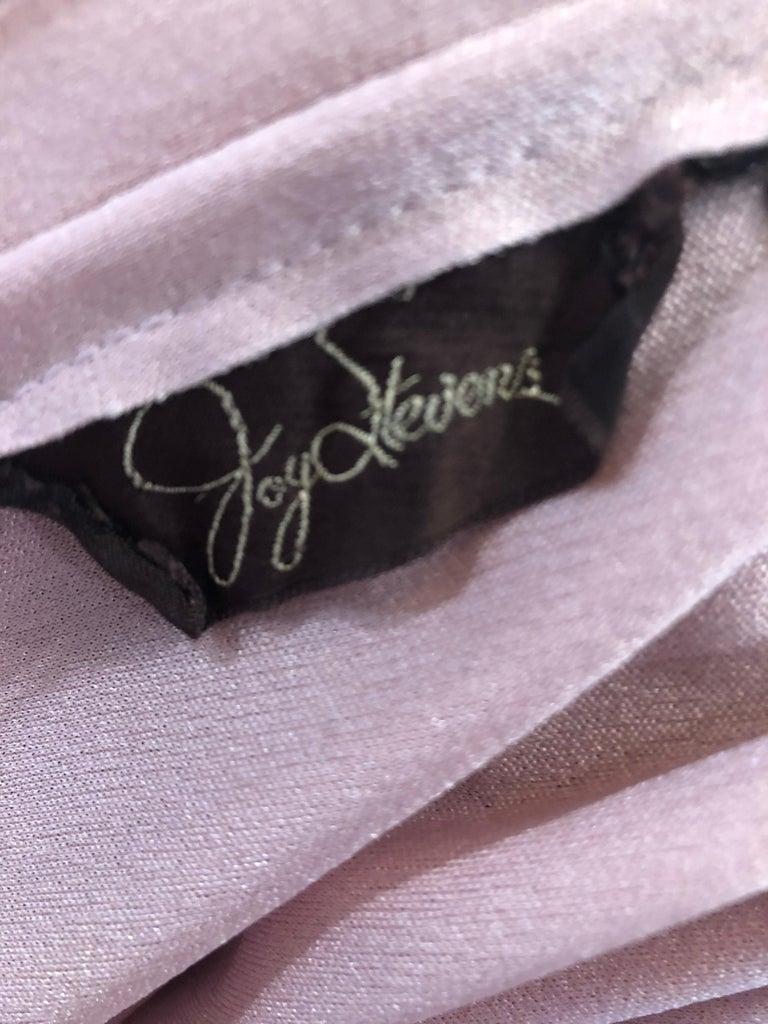 Joy Stevens 1970s Pink Mauve Dusty Rose Long Sleeve Disco Vintage 70s Dress For Sale 9