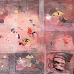Large Abstract Mixed Media Painting on Canvas: 'Flora/Windswept'